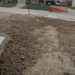 Front yard recently dug up when they needed to fix a burst water main.