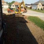 Working on the front yard